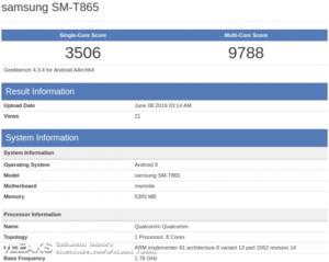 Tab S6 GeekBench