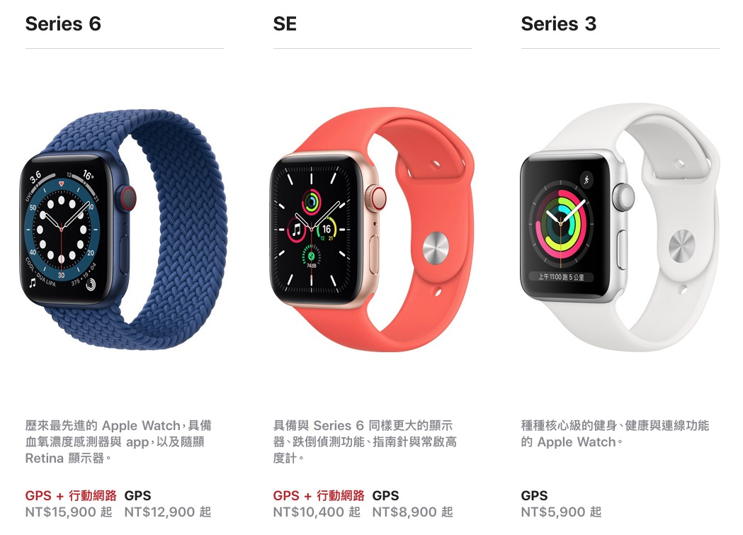 Apple Watch 比較