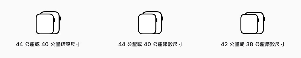 Apple watch 大小比較