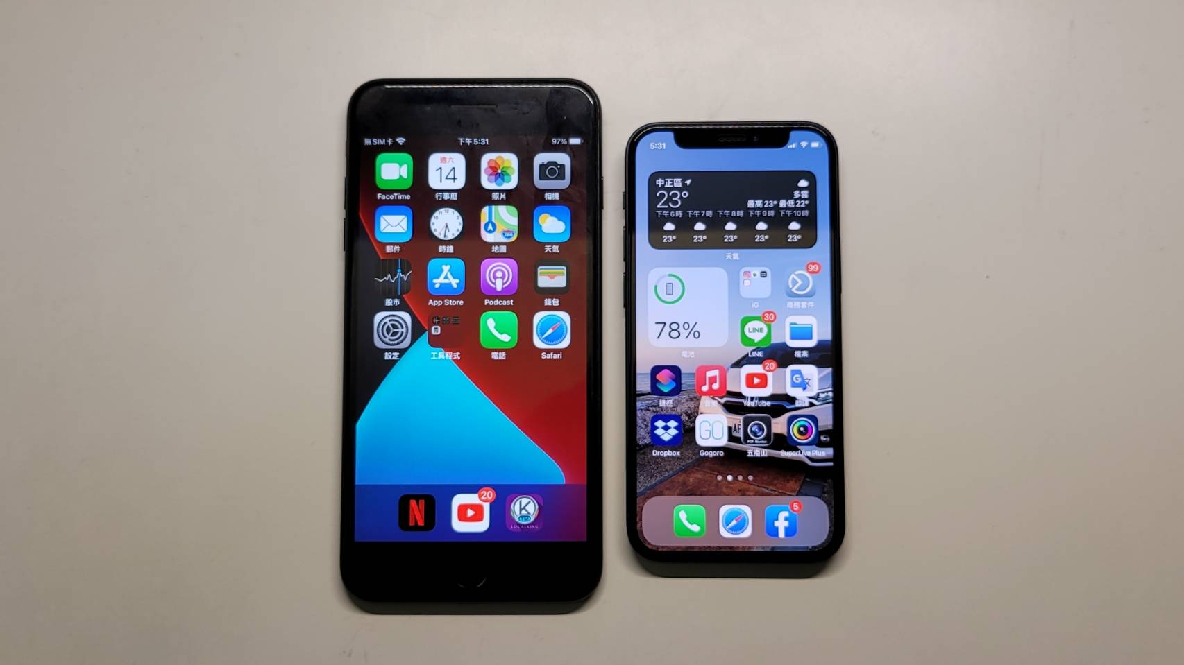 iphone 12 mini vs iphone 7 plus