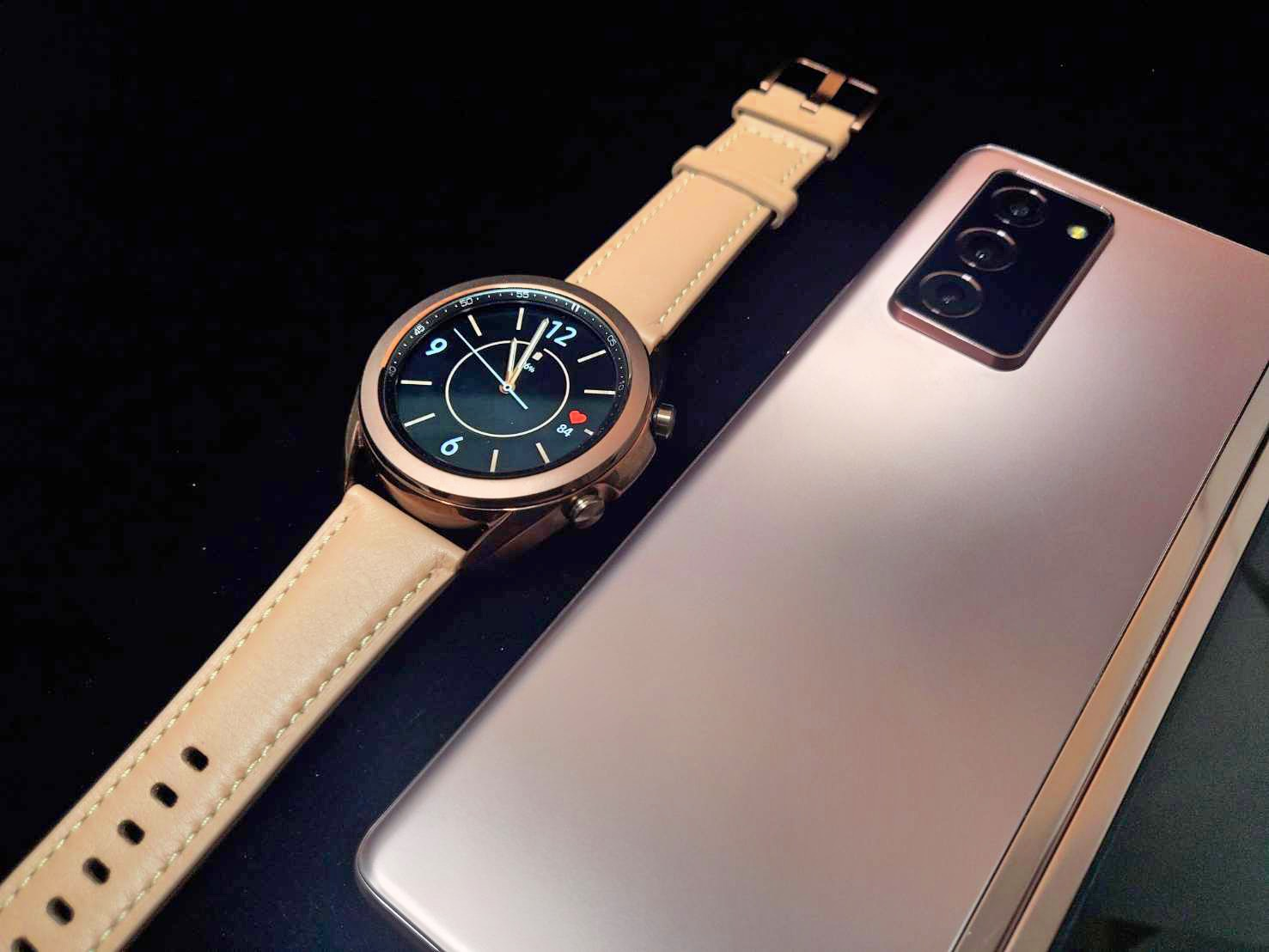 galaxy watch 3 and z fold 2